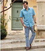Jasnoniebieskie dżinsy ze streczem preview2