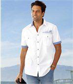 Het popeline overhemd 'Mykonos' preview1