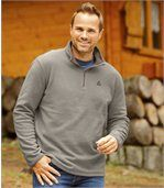 Men's Beige Pack of 3 Mountain Microfleece Jumpers preview3