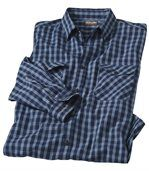 Men's Navy Country Western Checked Shirt preview2