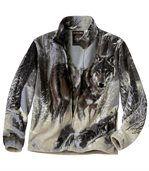Polarowa bluza z motywem wilka preview2