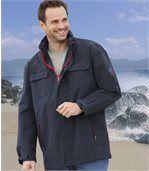 Men's Navy Blue Windbreaker Coat
