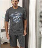 Men's Grey Arizona Short Pyjamas