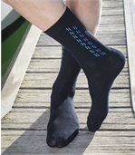 Men's Pack of 4 Stylish Socks - Navy Dark Grey Black Light Grey