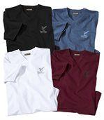 4er-Pack T-Shirts Eagle Park mit V-Ausschnitt preview1