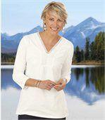 Tunika v bohémském stylu s výstřihem lemovaným macramé krajkou preview1