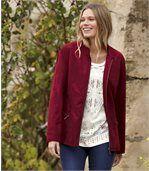 Trendy bunda z imitácie semišu preview1