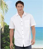 Men's Pack of 2 Marine Shirts - White Blue preview2