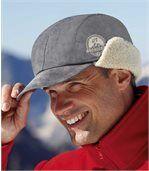 Mütze in Wildlederoptik mit Teddyfutter preview1