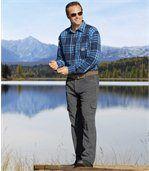 Welurowe spodnie bojówki ze strecze preview2