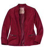 Trendy bunda z imitácie semišu preview2