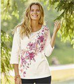 T-Shirt mit Blumendekor