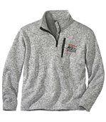 Men's Grey North Snow Fleece Pullover