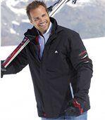 Men's Black Water-Repellent Parka Coat preview2