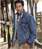 Dżinsowa kurtka z podszewką z kożuszka sherpa Wild Horse preview1