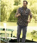 Spodnie bojówki z prążkowanego weluru preview2