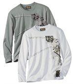 Set van 2 T-shirts met lange mouwen preview1