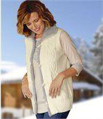 Women's Ecru Knitted Gilet preview2
