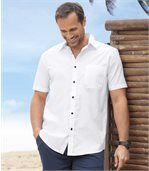 2er-Pack einfarbige, kurzärmelige Hemden  preview3
