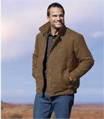 Pikowana kurtka ze sztucznego zamszu preview1