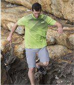 Pack of 2 Men's Sport T-Shirts - Black Green