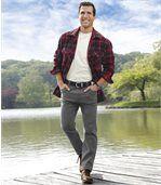 Sivé strečové džínsy Regular preview2