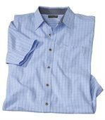 Men's Checked Blue Summer Shirt preview2