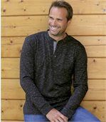 Pack of 2 Men's T-Shirts – Black Grey: