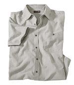 Men's Striped Shirt - Grey Ecru preview1