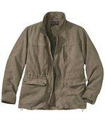 Semišová safari bunda sniekoľkými praktickými vreckami preview2