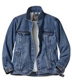 Men's Blue Denim Jacket with Sherpa Lining preview2