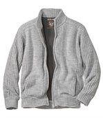 Pletený svetr s fleecovou podšívkou preview2