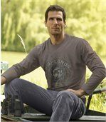 Men's Taupe Long Sleeve Top - Cotton preview1