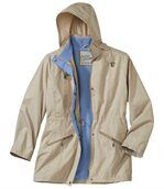 Women's Beige Parka-Style Windbreaker preview4