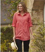Women's Coral Summer Top