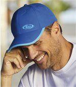 Men's Blue Seacoast Microfibre Baseball Cap