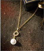 Women's Crystal and Pearl Necklace