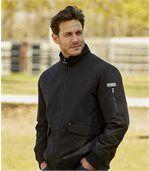 Men's Black Quilted Wild Outdoor Jacket