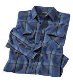 Men's Blue Checked Shirt preview2