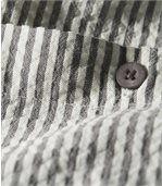 Pruhovaná košile svaflovým efektem preview3