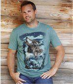 T-shirt met wolvenprint preview1