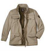 Men's Beige Multi-Pocket Parka Coat preview2
