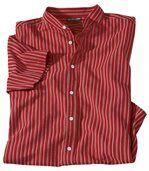 Gestreiftes Hemd mit Stehkragen