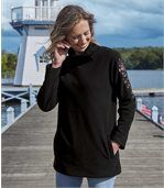 Fleece-Pullover im Tunika-Schnitt