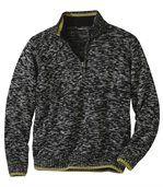 Pletený pulovr Patagonie se zipovým zapínáním ukrku