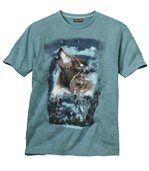 T-shirt met wolvenprint preview2