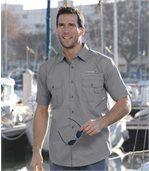 Men's Grey Aviator Shirt preview1