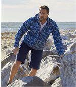 Men's Blue Camouflage Windbreaker preview2