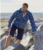 Windbreaker mit Camouflage-Aufdruck preview2