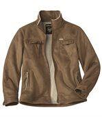 Semišová bunda s umelou kožušinou preview2